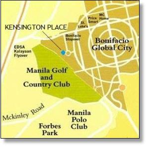 Kensington Place map, BGC