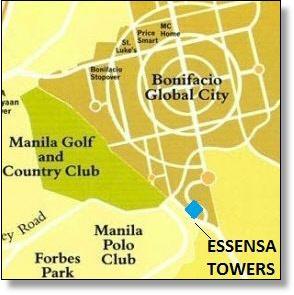 Essensa Towers map, BGC