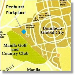 Penhurst Parkplace map, BGC